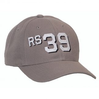 Grey will 6-panel cap with RS39 hull number style