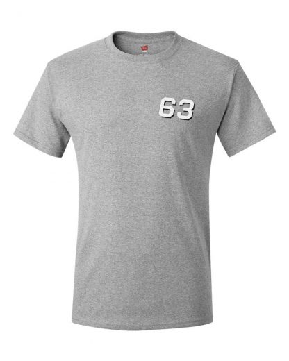 Ash colored t-shirt customized for USS Missouri, USS Cowpens and USS Kitty Hawk