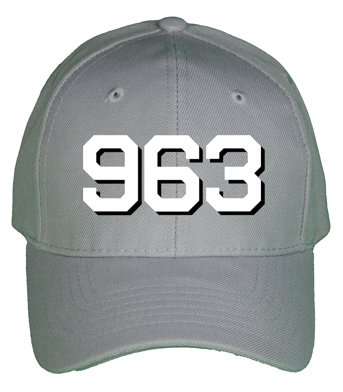 Mockup of the high quality 6-panel wool blend Hull number cap for the USS